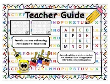 Colour Alphabet Tracing Cards