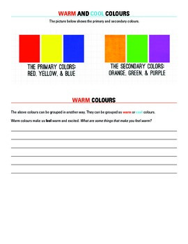 Colour Basics; teaching warm and cool colours