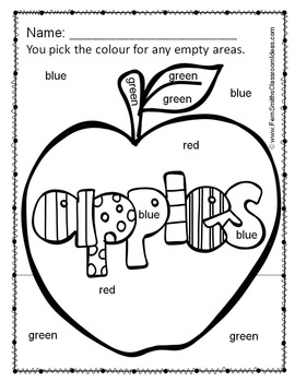 Colour By Code Apples Colours UK Version
