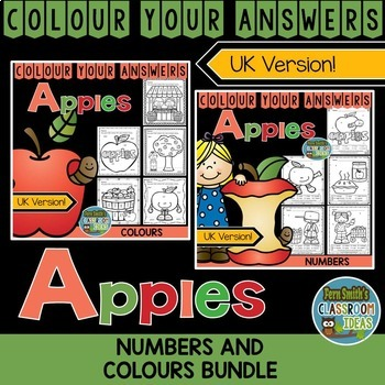 Colour By Code Apples Colours and Numbers Bundle UK Version