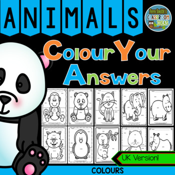 Colour By Code Awesome Animals Know Your Colours UK Version