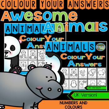 Colour By Code Awesome Animals Know Your Numbers and Know