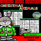 Colour By Code Christmas Critters Know Your Numbers and Kn