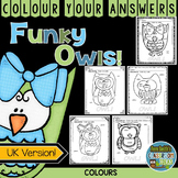 Colour By Code Funky Owls Know Your Colours UK Version