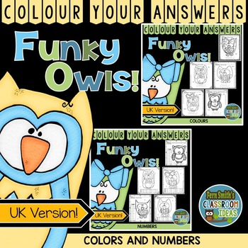 Colour By Code Funky Owls Know Your Colours and Numbers UK