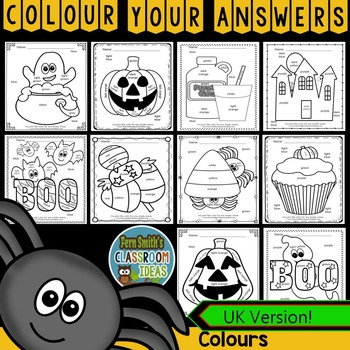 Colour By Code Halloween Fun Know Your Colours UK Version