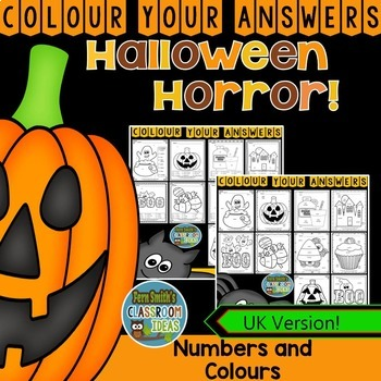 Colour By Code Halloween Fun Know Your Numbers and Colors