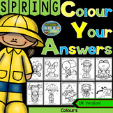 Colour By Code Spring Time Know Your Colours UK Version