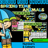 Colour By Code Spring Time Know Your Numbers and Know your