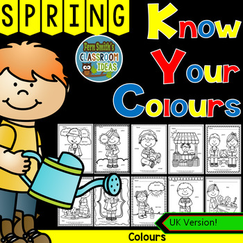 Colour By Code Sunny Spring Know Your Colours UK Version