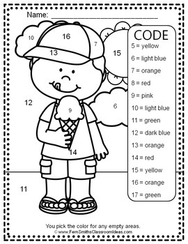 Colour By Code Sunny Spring Know Your Numbers and Know your Colours Bundle
