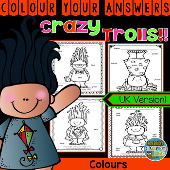 Colour By Code Trolls Know Your Colours UK Version