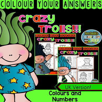 Colour By Code Trolls Know Your Numbers and Colours Bundle