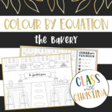 Colour By Equation: The Bakery - Algebra Activity