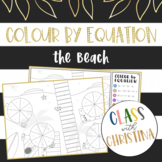 Colour By Equation: The Beach - Algebra Activity