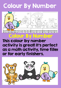 Color By Number - Animals