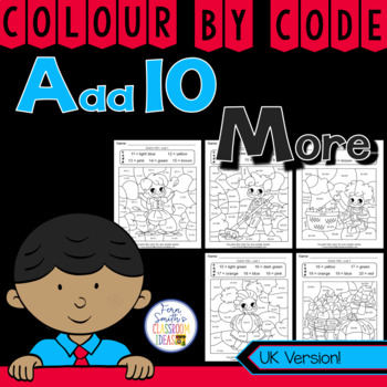 Colour By Numbers Addition Of Ten More