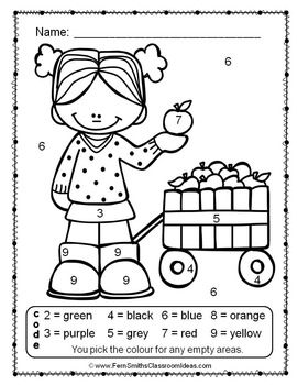 Colour By Numbers Apples Numbers UK Version