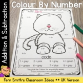 Colour By Numbers Awesome Animals Mixed Addition and Mixed Subtraction