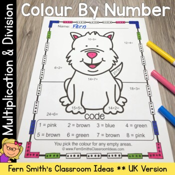 Colour By Numbers Awesome Animals Mixed Multiplication and