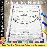 Colour By Numbers Ocean Animals Mixed Multiplication and Mixed Division Bundle