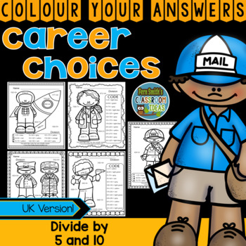 Colour By Numbers Careers: MORE 3 Digit Dividend Division UK Version