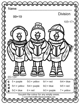 Colour By Numbers Christmas Critters Advance Division UK Version