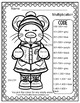 Colour By Numbers Christmas Critters Advance Multiplication UK Version