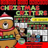 Colour By Numbers Christmas Critters Advance Multiplication and Division Bundle