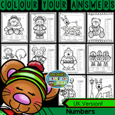 Colour By Numbers Christmas Critters Know Your Numbers UK Version