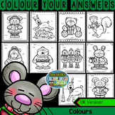 Colour By Code Christmas Critters Know Your Colours UK Version