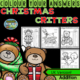 Colour By Numbers Christmas 2-Digit by 2-Digit Addition UK Version