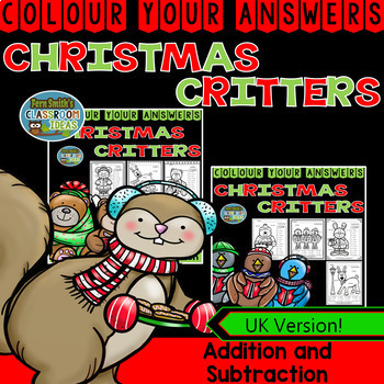 Colour By Numbers Christmas Two Digit by Two Digit Addition Subtraction Bundle