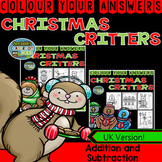 Christmas Colour By Number 2-Digit by 2-Digit Addition Sub