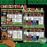 Color By Numbers Christmas Two-Step Math Problems Bundle