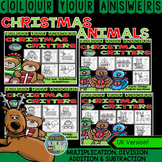 Colour By Numbers Christmas Two-Step Math Problems Bundle UK Version