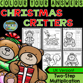 Colour By Numbers Christmas Two-Step Multiplication UK Version