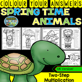 Colour By Numbers Spring Two-Step Multiplication UK Version