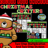 Colour By Numbers Christmas Two-Step Multiplication and Two-Step Division Bundle