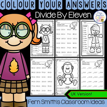 Colour By Numbers Divide By Eleven Colour By Code UK Version