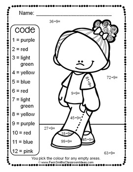 Colour By Numbers Divide By Nine Colour By Code UK Version