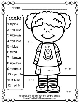 Colour By Numbers Divide By One Colour By Code UK Version