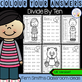 Colour By Numbers Divide By Ten Colour By Code UK Version