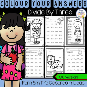 Colour By Numbers Divide By Three Colour By Code UK Version