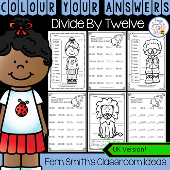 Colour By Numbers Divide By Twelve Colour By Code UK Version
