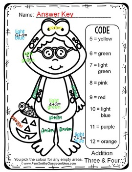 Colour By Numbers Halloween Costumed Kids Addition UK Version