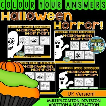 Colour By Numbers Halloween Fun Bundle UK Version