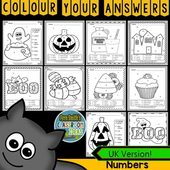 Colour By Numbers Halloween Fun Know Your Numbers UK Version