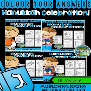 Colour By Numbers Hanukkah Celebration Bundle UK Version