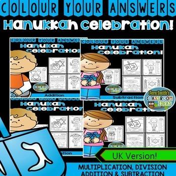 Colour By Number Hanukkah Celebration Bundle UK Version